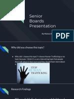 senior boards presentation