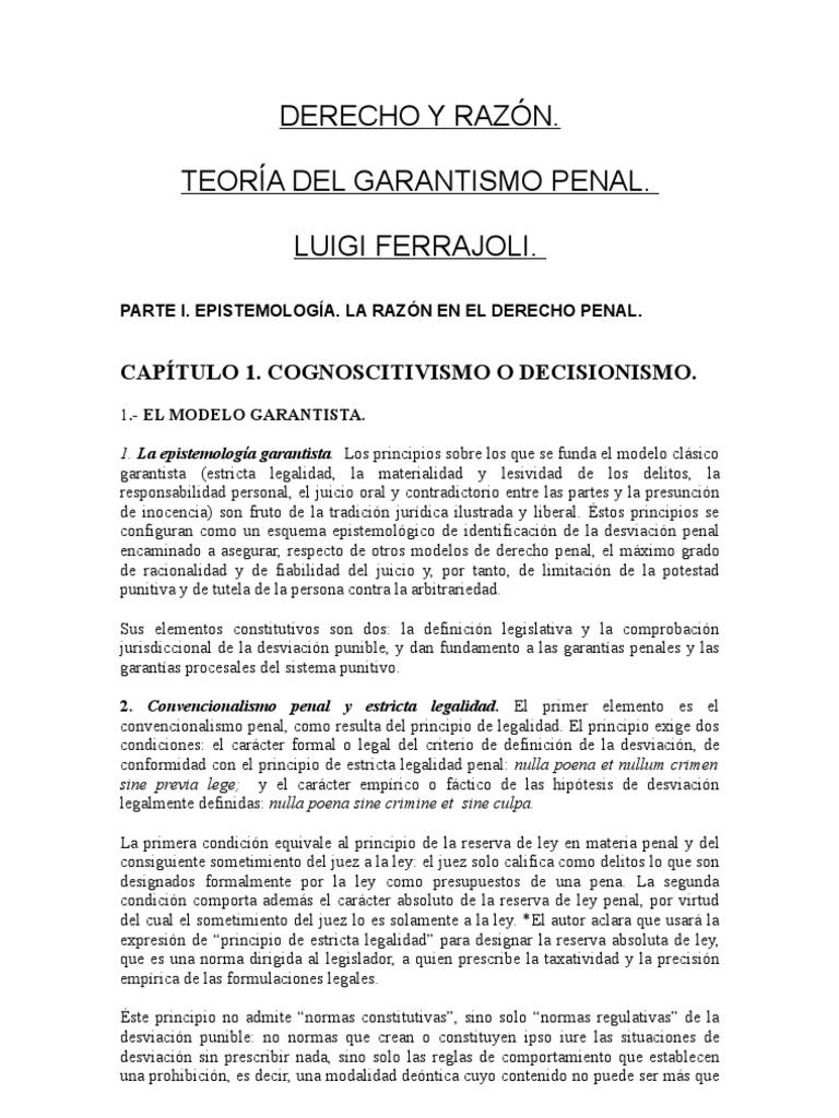 Luigi Ferrajoli Derecho Y Razon Ebook