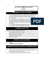 grade 1-5 physical education lesson plan