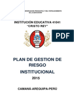Plan de Gestion Riesgo