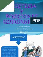 Clase Anestesia y Posiciones Quirurgicas