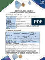 Guía de actividades -  fase 1 Actividad inicial de reconocimiento del curso.