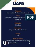 TAREA 1 Fundamentos de La Educación a Distancia de La Dra. Mirian Acosta Peralta