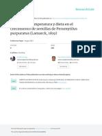 Efecto de La Temperatura y Dieta en El Crecimiento de Semillas de Perumytilus Purpuratus (Lamarck, 1819)