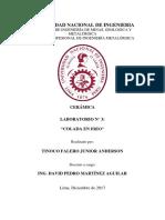 Informe  COLADA EN FRIO