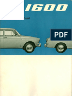 August 1965 Type 3 1600 Owners Manual