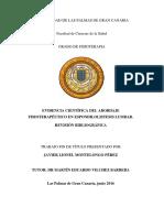 Evidencia Cientifica de Tratamiento Fisioterapeutico Para Espodilolistesis.