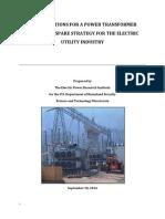 RecX - Emergency Spare Transformer Strategy-508f