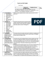formal lesson plan template  1