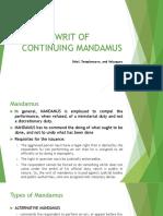 Writ of Continuing Mandamus v4 Super Final