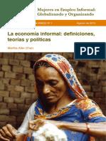 Chen Informal Economy Definitions WIEGO WP1 Espanol