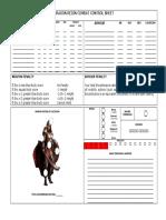 DRAGON REIGN - Female Combat Control Sheet