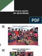 1. Primera Sesión Teórica de Toxicología. 20017 - II