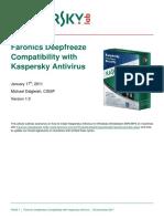 Kaspersky Compatibilidad con Faronics Deepfreeze