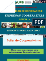 Semana 13 - Emp. Cooperativas - Cont. Soc. II