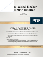 value-added teacher evaluation reforms