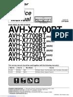 Pioeer Manual Service Avhx7700btxnuc