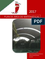 Plan de Área 2017 - Matematicas