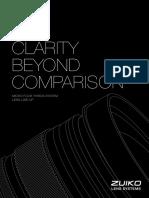 Olympus Lenses LineupBrochure 2016-09