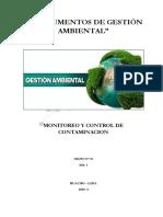 Instrumentos de Gestion Ambiental Preventivos y Correctivos