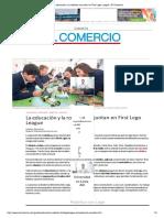 La Educación y La Robótica Se Juntan en First Lego League _ El Comercio