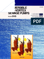 Ebara Submersible Semi Vortex Sewage Pump - DVS