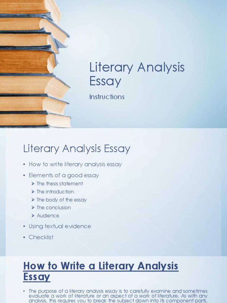 write introduction literary analysis essay