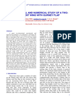 EXPERIMENTAL AND NUMERICAL STUDY OF A TWOELEMENT WING WITH GURNEY FLAP