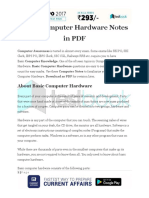 Basic Computer Hardware Notes in PDF 1