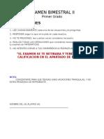 Examen II Bimestre