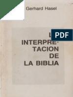 Hasel, Gerhard. La Interpretación de La Biblia (Buenos Aires. Ediciones SALT, 1986)