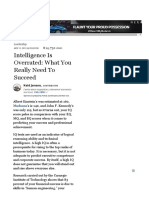 Intelligence is Overrated_ What You Really Need to Succeed