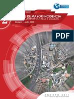 Delitos de Mayor Incidencia en Lima Metropolitana y Callao Enero - Julio 2011