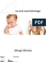 Rhinorrhea and Nasal Blockage