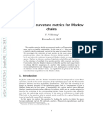Constant curvature metrics for Markov chains