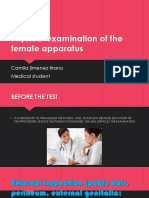 Physical Examination of the Female Apparatus