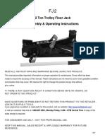 Torin 2-Ton Hydraulic Trolley Jack Manual