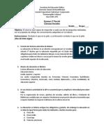 Examen de Segundo Parcial Ciencias Sociales.