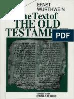 The Text of the Old Testament - Ernst Würthwein