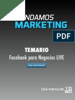 Temario Facebook Para Negocios en Vivo PRINCIPIANTE