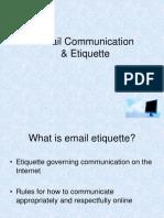 Email Communication & Etiquette