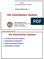 EE153 Notes No. 1 - The Electric Distribution System