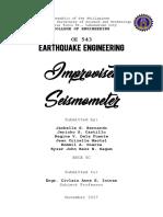 Improvised Seismometer
