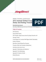 2015 SP Global Corporate Default Study