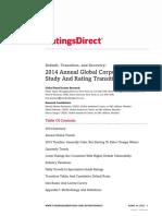 2014 SP Global Corporate Default Study