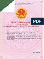 GCN QSD Dat Khu a - Tran Thai Cam Ranh