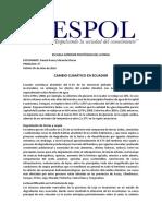 Cambio Climático en Ecuador