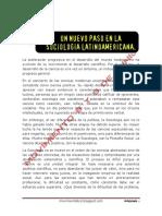 Un Nuevo Paso en La Sociología Latinoamericana