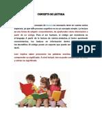 Luisa Concepto de Lectura y Escritura