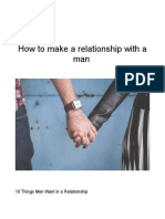 How to Make a Relationship With a Man